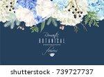 vector floral horizontal border ... | Shutterstock .eps vector #739727737