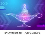 abstract image magic lamp in...   Shutterstock .eps vector #739728691
