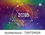 cosmic astrological new year... | Shutterstock .eps vector #739729039