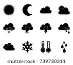 weather icons | Shutterstock .eps vector #739730311