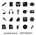 music icons   Shutterstock .eps vector #739730347