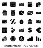 financial icons | Shutterstock .eps vector #739730431