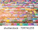 sunlight effect top view... | Shutterstock . vector #739741255