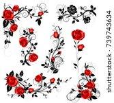 vector set of decorative...   Shutterstock .eps vector #739743634