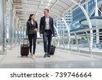 business man and business woman ... | Shutterstock . vector #739746664