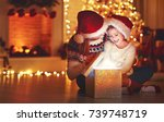 merry christmas  family mother... | Shutterstock . vector #739748719