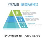 pyramid infographic template... | Shutterstock .eps vector #739748791