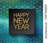 happy new year 2018 in...   Shutterstock .eps vector #739750009