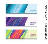 modern geometry design. set of... | Shutterstock .eps vector #739750237