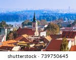 panoramic view of zemun  with... | Shutterstock . vector #739750645