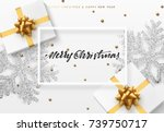 christmas background with gifts ... | Shutterstock .eps vector #739750717