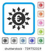 euro payments icon. flat grey...