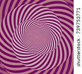 colorful hypnotic psychedelic... | Shutterstock .eps vector #739753771