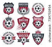 football vector collection of... | Shutterstock .eps vector #739753954