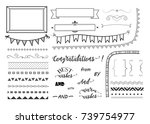 set of decorative elements for...   Shutterstock .eps vector #739754977