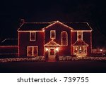 Christmas illuminations - stock photo