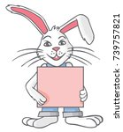 illustration of a white rabbit... | Shutterstock .eps vector #739757821