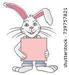 illustration of a white rabbit... | Shutterstock .eps vector #739757821