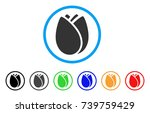 tulip bud rounded icon. style...   Shutterstock .eps vector #739759429