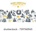 beautiful vector hand drawn... | Shutterstock .eps vector #739760965