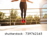cropped photo of strong young... | Shutterstock . vector #739762165