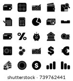 financial icons | Shutterstock .eps vector #739762441
