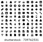 internet icons | Shutterstock .eps vector #739762531