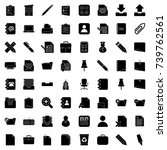 office icons | Shutterstock .eps vector #739762561