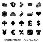 casino icons | Shutterstock .eps vector #739762564