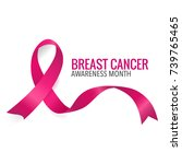 breast cancer awareness month... | Shutterstock .eps vector #739765465