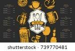 restaurant menu design. vector... | Shutterstock .eps vector #739770481