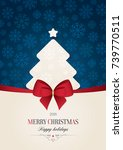 christmas and new year. vector... | Shutterstock .eps vector #739770511
