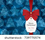 christmas and new year. vector... | Shutterstock .eps vector #739770574