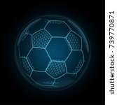 image of a soccer ball made of... | Shutterstock .eps vector #739770871