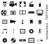movie icon set | Shutterstock .eps vector #739772305