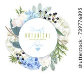 vector round banner with...   Shutterstock .eps vector #739776895