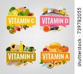 vitamin banner. vector... | Shutterstock .eps vector #739782055