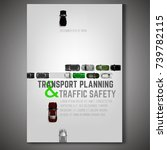 city traffic poster with top... | Shutterstock .eps vector #739782115