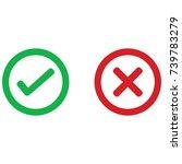 check mark wrong mark icon | Shutterstock .eps vector #739783279