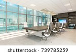 office chairs. office workplace.... | Shutterstock . vector #739785259
