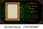 thailand royal gold frame on... | Shutterstock .eps vector #739785889