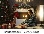 christmas or new year... | Shutterstock . vector #739787335