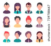flat isolated vector icons | Shutterstock .eps vector #739788667
