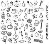 vector illustration set of... | Shutterstock .eps vector #739791904