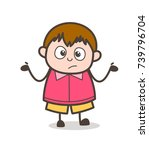 unaware gesture   cute cartoon...   Shutterstock .eps vector #739796704
