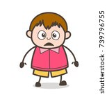 shocked face   cute cartoon fat ... | Shutterstock .eps vector #739796755