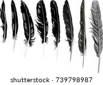 illustration with black... | Shutterstock .eps vector #739798987