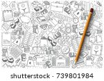 hand drawn vector set of... | Shutterstock .eps vector #739801984