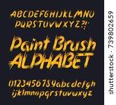hand drawn calligraphy brush... | Shutterstock .eps vector #739802659