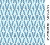seamless geometric blue lines...   Shutterstock .eps vector #739808791